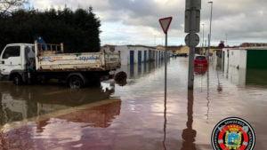 Inundaciones en el barrio Santiago el Mayor de Nueva Montaña TWITTER BOMBEROS DE SANTANDER