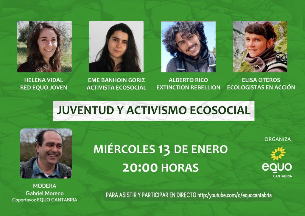 Cartel JUVENTUD Y ACTIVISMO ECOSOCIAL
