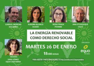 CARTEL: LA ENERGÍA RENOVABLE: DERECHO SOCIAL
