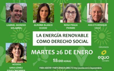 LA ENERGÍA RENOVABLE: DERECHO SOCIAL
