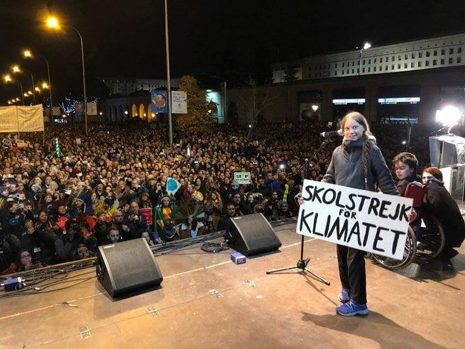 Imagen Greta Thunberg en Madrid