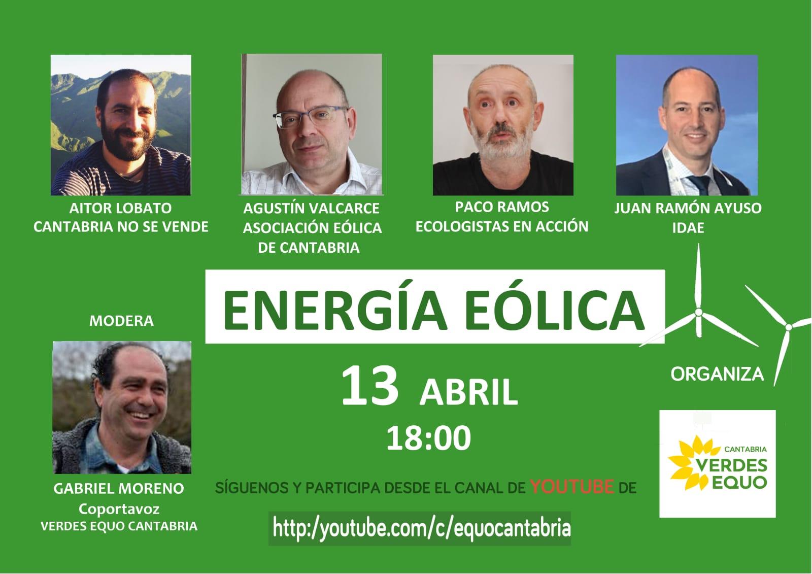 Cartel Webinar Energía Eólica