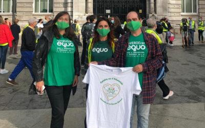 VERDES EQUO CANTABRIA Y VERDES EQUO MIENGO PARTICIPAN EN LA MARCHA SOLIDARIA 0,77%