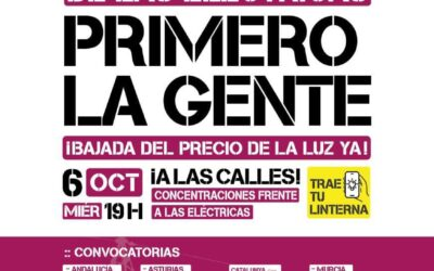 EL 6 DE OCTUBRE SE REALIZARÁN CONCENTRACIONES FRENTE A LAS ELÉCTRICAS EN CANTABRIA